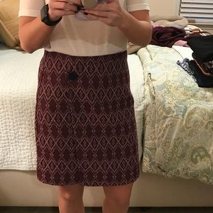 Purple Geometric Printed Skirt